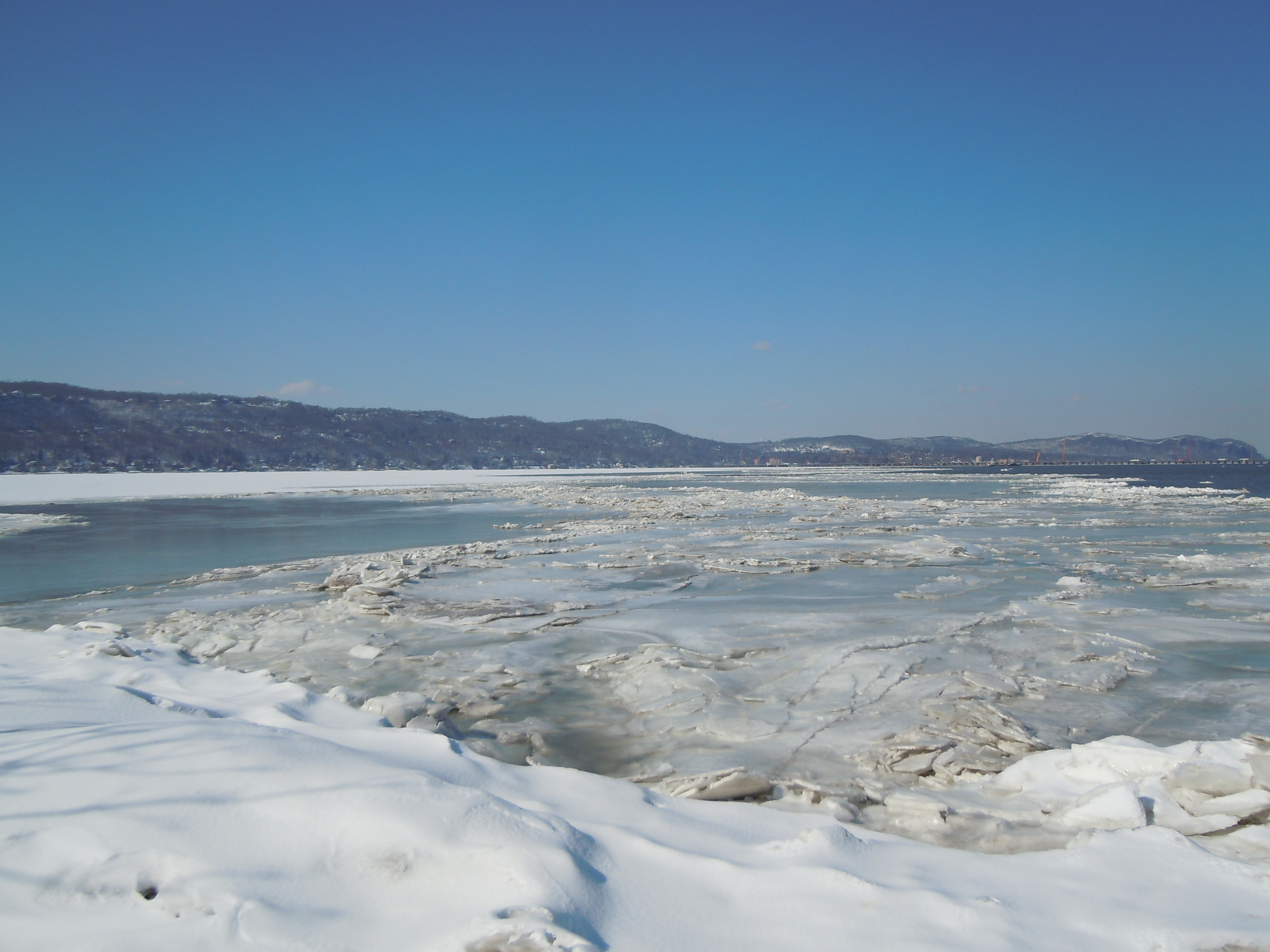 Ice on the Hudson at Piermont, NY